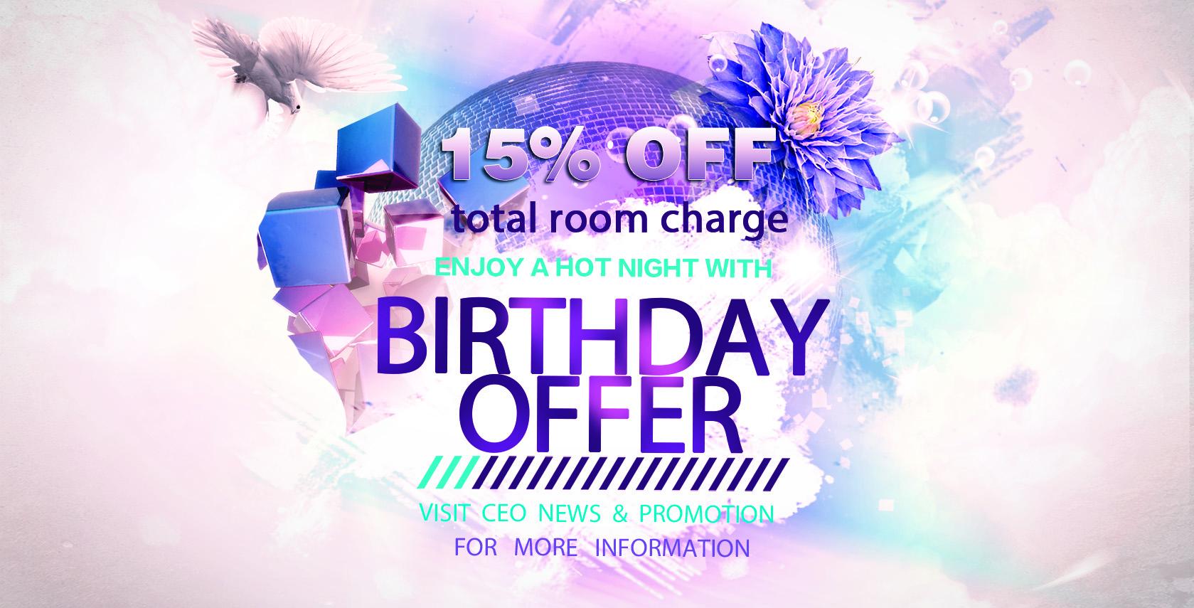 7106241b0f4 Birthday Special Offer 2016
